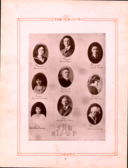 Page 4, 1920 Edition, Howard Payne College - Lasso Yearbook (Brownwood, TX) online yearbook collection
