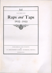 Page 5, 1933 Edition, St Christophers School - Raps and Taps Yearbook (Richmond, VA) online yearbook collection