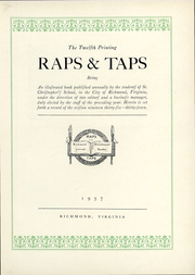 Page 6, 1937 Edition, St Christophers School - Raps and Taps Yearbook (Richmond, VA) online yearbook collection