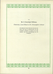 Page 9, 1937 Edition, St Christophers School - Raps and Taps Yearbook (Richmond, VA) online yearbook collection