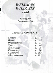 Page 5, 1984 Edition, Union High School - Wildcat Yearbook (Wellman, TX) online yearbook collection