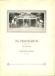 Page 7, 1928 Edition, Wayland Baptist University - Traveler Yearbook (Plainview, TX) online yearbook collection