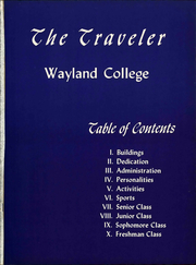 Page 7, 1954 Edition, Wayland Baptist University - Traveler Yearbook (Plainview, TX) online yearbook collection