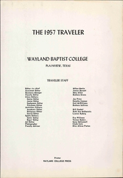 Page 7, 1957 Edition, Wayland Baptist University - Traveler Yearbook (Plainview, TX) online yearbook collection