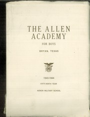 1944 Edition, Allen Academy - Yearbook (Bryan, TX)