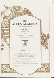 Page 5, 1944 Edition, Allen Academy - Yearbook (Bryan, TX) online yearbook collection