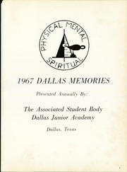 Page 5, 1967 Edition, Dallas Junior Academy - Dallas Memories Yearbook (Dallas, TX) online yearbook collection