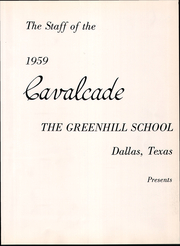 Page 7, 1959 Edition, Greenhill School - Cavalcade Yearbook (Addison, TX) online yearbook collection