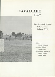 Page 7, 1967 Edition, Greenhill School - Cavalcade Yearbook (Addison, TX) online yearbook collection