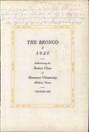 Page 9, 1927 Edition, Hardin Simmons University - Bronco Yearbook (Abilene, TX) online yearbook collection