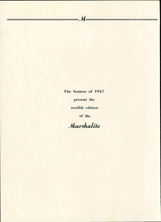 Page 10, 1947 Edition, Marshall High School - Marshallite Yearbook (Marshall, VA) online yearbook collection