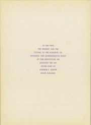 Page 8, 1947 Edition, Stephen F Austin State University - Stone Fort Yearbook (Nacogdoches, TX) online yearbook collection