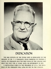 Page 7, 1960 Edition, Stephen F Austin State University - Stone Fort Yearbook (Nacogdoches, TX) online yearbook collection