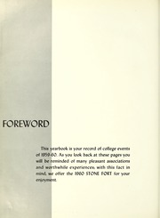 Page 8, 1960 Edition, Stephen F Austin State University - Stone Fort Yearbook (Nacogdoches, TX) online yearbook collection