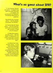 Page 14, 1975 Edition, Stephen F Austin State University - Stone Fort Yearbook (Nacogdoches, TX) online yearbook collection