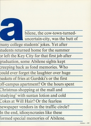 Page 213, 1982 Edition, Abilene Christian College - Prickly Pear Yearbook (Abilene, TX) online yearbook collection