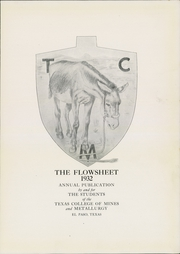 Page 7, 1932 Edition, University of Texas at El Paso - Flowsheet Yearbook (El Paso, TX) online yearbook collection