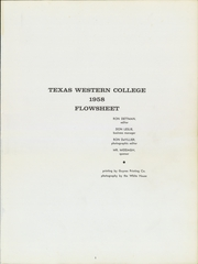 Page 5, 1958 Edition, University of Texas at El Paso - Flowsheet Yearbook (El Paso, TX) online yearbook collection