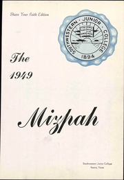 Page 9, 1949 Edition, Southwestern Adventist University - Mizpah Yearbook (Keene, TX) online yearbook collection