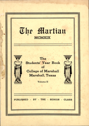 Page 3, 1919 Edition, East Texas Baptist University - Martian Yearbook (Marshall, TX) online yearbook collection