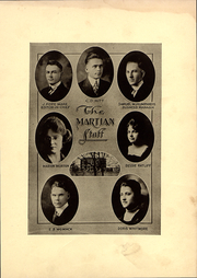 Page 7, 1919 Edition, East Texas Baptist University - Martian Yearbook (Marshall, TX) online yearbook collection