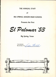 Page 5, 1953 Edition, Runnels Junior High School - El Palomar Yearbook (Big Spring, TX) online yearbook collection