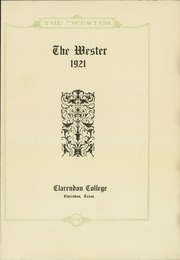 Page 5, 1921 Edition, Clarendon College - Wester Yearbook (Clarendon, TX) online yearbook collection