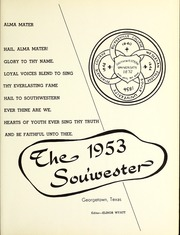 Page 5, 1953 Edition, Southwestern University - Souwester Yearbook (Georgetown, TX) online yearbook collection