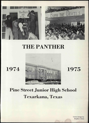 Page 7, 1975 Edition, Pine Street Middle School - Panther Yearbook (Texarkana, TX) online yearbook collection