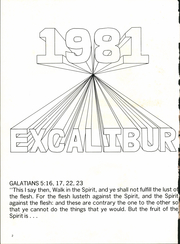 Page 6, 1981 Edition, Garland Christian Academy - Excalibur Yearbook (Garland, TX) online yearbook collection