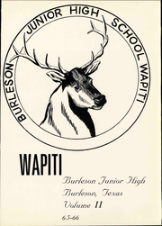 Page 5, 1966 Edition, Burleson Junior High School - Wapiti Yearbook (Burleson, TX) online yearbook collection