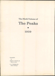 Page 8, 1939 Edition, Bedford High School - Peaks Yearbook (Bedford, VA) online yearbook collection