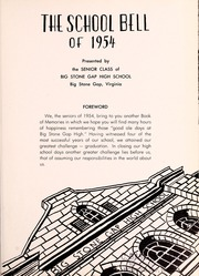 Page 5, 1954 Edition, Big Stone Gap High School - School Bell Yearbook (Big Stone Gap, VA) online yearbook collection