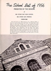 Page 5, 1956 Edition, Big Stone Gap High School - School Bell Yearbook (Big Stone Gap, VA) online yearbook collection