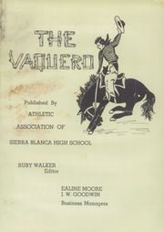 Page 5, 1949 Edition, Sierra Blanca High School - Vaquero Yearbook (Sierra Blanca, TX) online yearbook collection