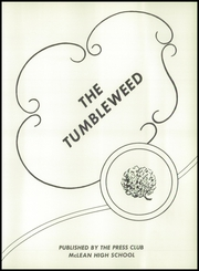 Page 7, 1958 Edition, McLean High School - Tumbleweed Yearbook (McLean, TX) online yearbook collection