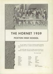 Page 5, 1959 Edition, Pickton High School - Hornet Yearbook (Pickton, TX) online yearbook collection