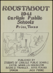 Page 7, 1941 Edition, Carlisle High School - Roustabout Yearbook (Price, TX) online yearbook collection