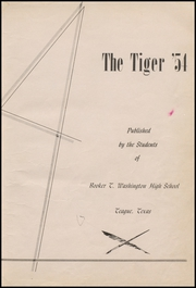 Page 7, 1954 Edition, Booker T Washington High School - Tiger Yearbook (Teague, TX) online yearbook collection