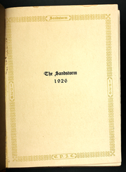 Page 5, 1926 Edition, El Paso Junior College - Sandstorm Yearbook (El Paso, TX) online yearbook collection