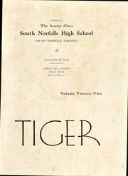 Page 7, 1944 Edition, South Norfolk High School - Tiger Yearbook (South Norfolk, VA) online yearbook collection