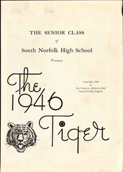Page 7, 1946 Edition, South Norfolk High School - Tiger Yearbook (South Norfolk, VA) online yearbook collection