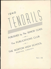 Page 7, 1940 Edition, Norton High School - Tendrils Yearbook (Norton, VA) online yearbook collection
