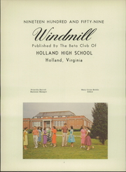 Page 6, 1959 Edition, Holland High School - Windmill Yearbook (Holland, VA) online yearbook collection