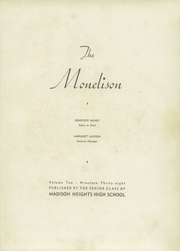 Page 7, 1938 Edition, Madison Heights High School - Monelison Yearbook (Madison Heights, VA) online yearbook collection