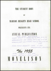 Page 5, 1955 Edition, Madison Heights High School - Monelison Yearbook (Madison Heights, VA) online yearbook collection
