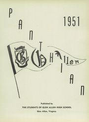 Page 5, 1951 Edition, Glen Allen High School - Panthian Yearbook (Glen Allen, VA) online yearbook collection