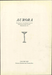 Page 11, 1923 Edition, Bridgewater High School - Aurora Yearbook (Bridgewater, VA) online yearbook collection