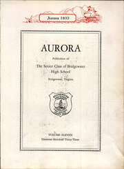 Page 7, 1933 Edition, Bridgewater High School - Aurora Yearbook (Bridgewater, VA) online yearbook collection