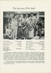 Page 9, 1954 Edition, Madam Viaud High School - Spectator Yearbook (Roanoke, VA) online yearbook collection